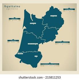 Modern map - Aquitaine FR