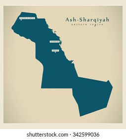 Modern Map - Ash-Sharqiyah SA