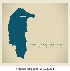 Modern Map - Australian Capital Territory AU