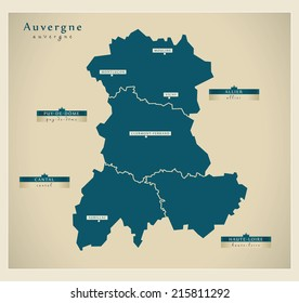Modern map - Auvergne FR