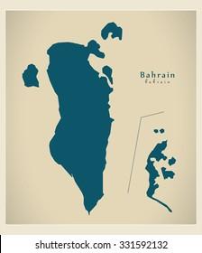 Modern Map - Bahrain BH