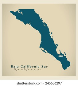 Modern Map - Baja California Sur MX