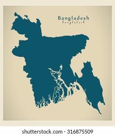 Modern Map - Bangladesh BD