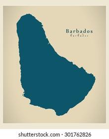 Modern Map - Barbados BB