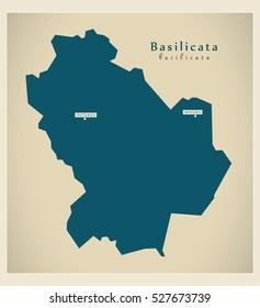 Basilicata Province Map Images Stock Photos Vectors Shutterstock