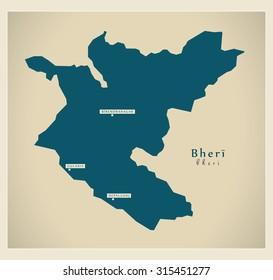 Modern Map - Bheri NP