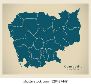 Cambodia Map Images, Stock Photos & Vectors | Shutterstock