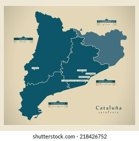 Modern map - Cataluna ES