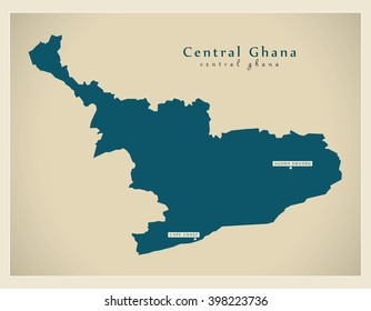 Modern Map - Central Ghana GH