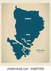 Modern Map - Dhaka BD