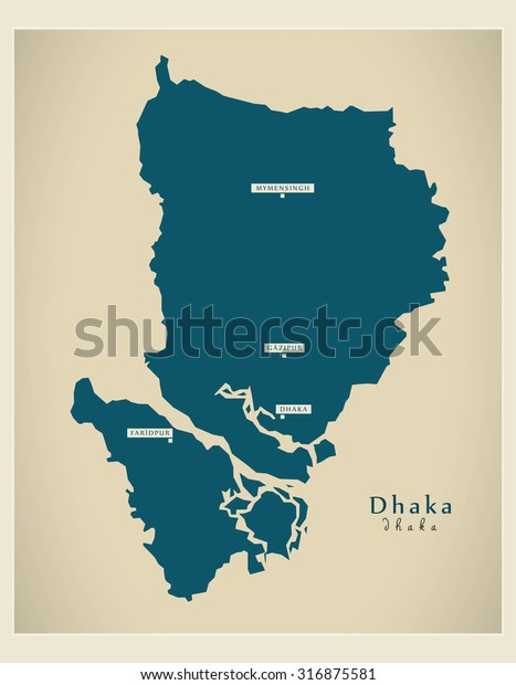 Modern Map Dhaka Bd Stock Vector (Royalty Free) 316875581