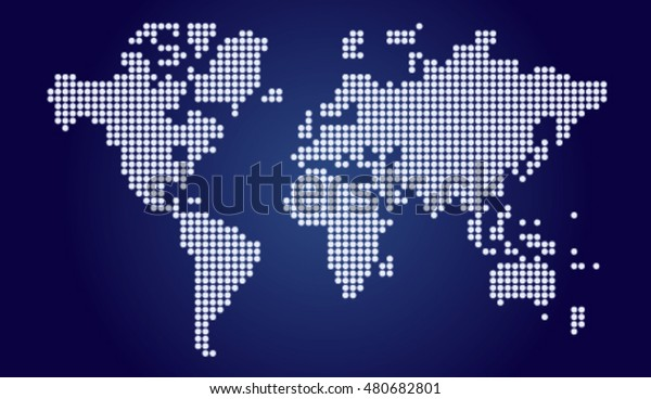 Modern Map Dotted Map Map Box Stock Vector (Royalty Free) 480682801