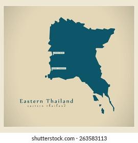 Modern Map - Eastern Thailand TH