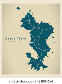 Modern Map - Grand Terre with communes YT