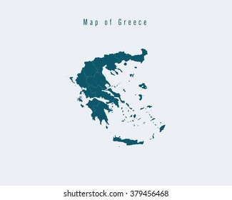 Modern Map - Greece with federal states