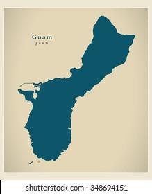 Modern Map - Guam GU