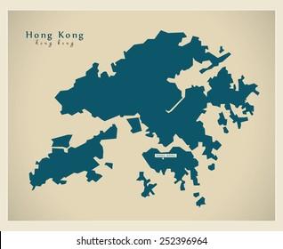 Modern Map - Hong Kong CN