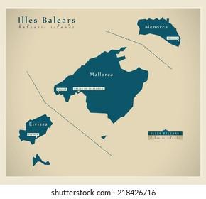 Modern map - Illes Balears ES