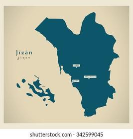 Modern Map - Jizan SA