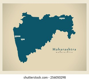 Modern Map - Maharashtra IN