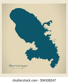 Modern Map - Martinique MQ