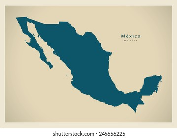 Modern Map - Mexico MX