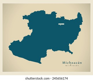 Modern Map - Michoacan MX