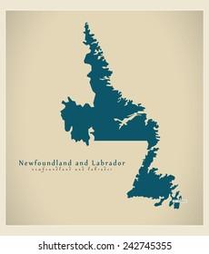 Modern Map - Newfoundland and Labrador CA