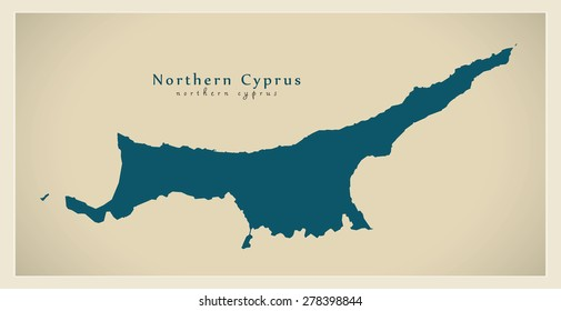 Modern Map - Northern Cyprus CY
