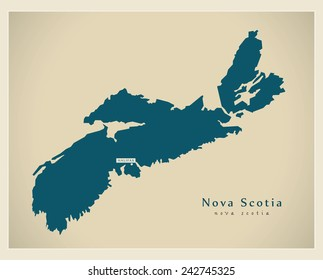 Modern Map - Nova Scotia CA