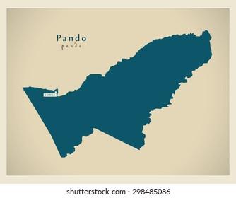Modern Map - Pando BO