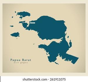 Modern Map - Papua Barat ID