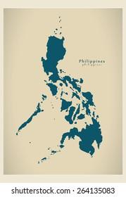 Modern Map - Philippines PH
