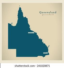 modern map queensland au