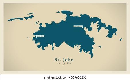 Modern Map - Saint John VI