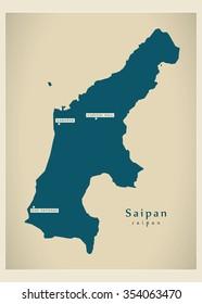 Modern Map - Saipan MP