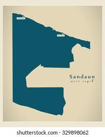 Modern Map - Sandaun PG