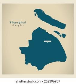 Modern Map - Shanghai CN
