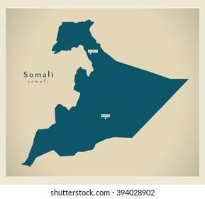 Modern Map - Somali ET