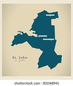 Modern Map - St. John AG