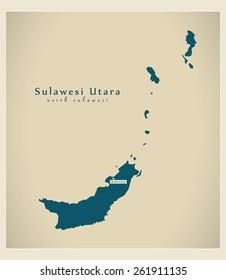 Modern Map - Sulawesi Utara ID