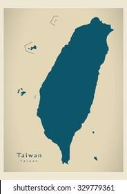Modern Map - Taiwan TW