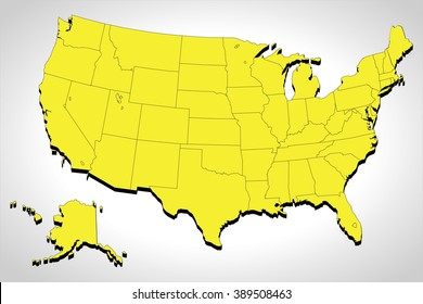 modern map usa with federal states source outline map of the united states