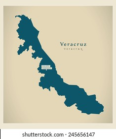 Modern Map - Veracruz MX