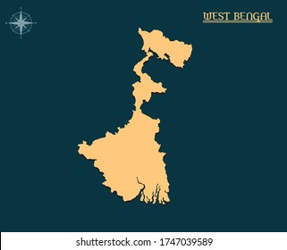 Modern map of WEST BENGAL, india state map WEST BENGAL, indian state infographics