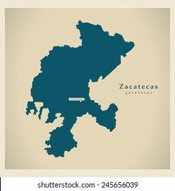 Modern Map - Zacatecas MX