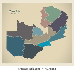 Modern Map South Africa Provinces Za Stock Vector 2018 248086969