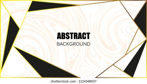 Modern marble banner.Minimal marble background with traingles.Vector illustration.
