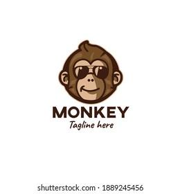 Modern mascot vector monkey logo