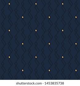 Modern masculin pattern elegant jagged line manly fabric design ultimate blue background. Minimal allover print block for apparel textile, ladies dress, man shirt, fashion garment, wrapping, swimwear.